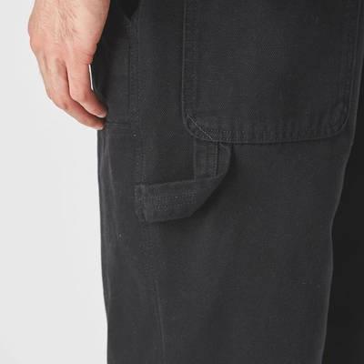 Stussy Woven Canvas Work Pant Black Detail 3