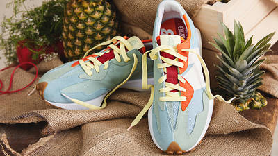 Todd Snyder x New Balance MS327 Farmers Market Pineapple lifestyle