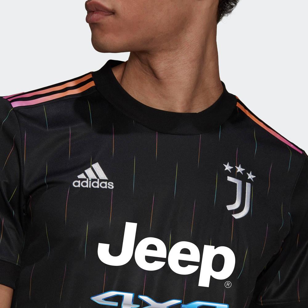 adidas Juventus 21-22 Third Jersey Black GS1438 Detail