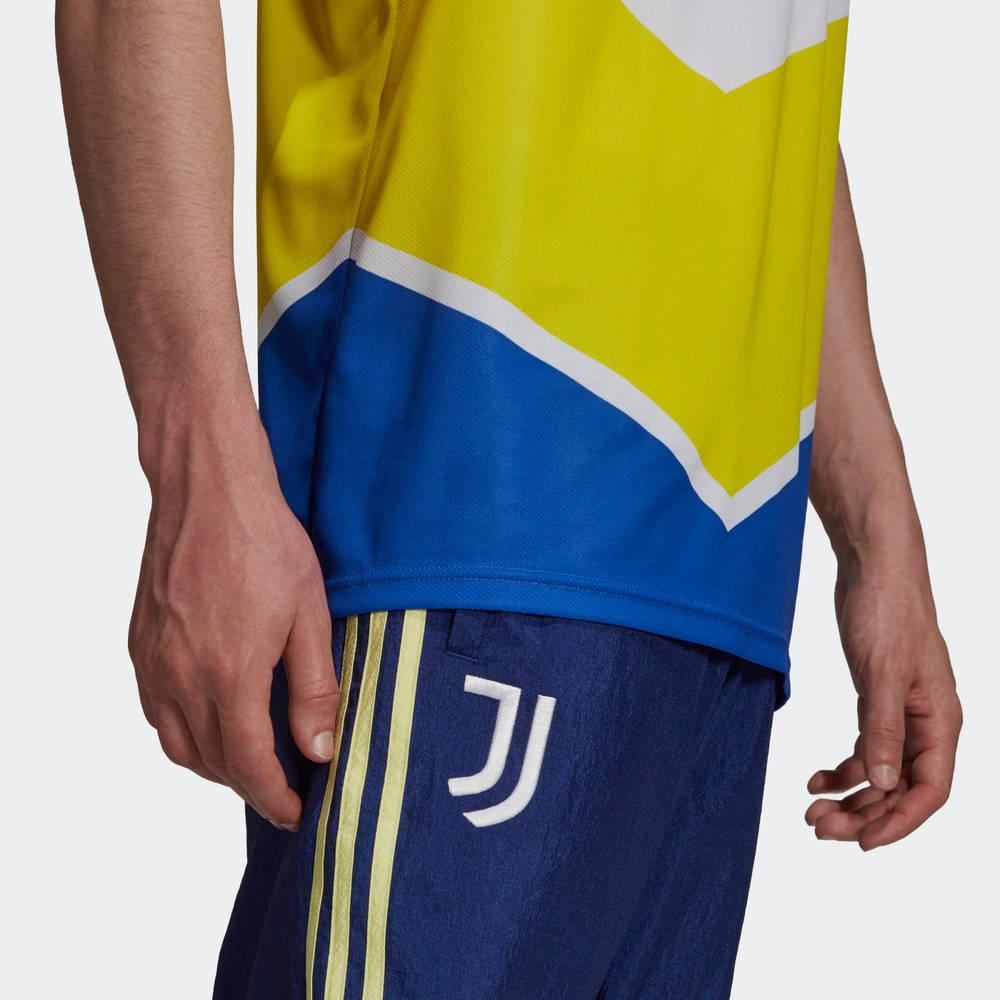 adidas Juventus 21-22 Third Jersey Shock Yellow GS1439 Detail 2