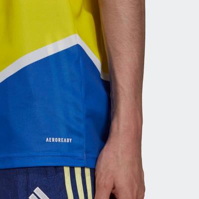 adidas Juventus 21-22 Third Jersey Shock Yellow GS1439 Detail