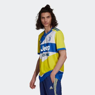 adidas Juventus 21-22 Third Jersey Shock Yellow GS1439 Side