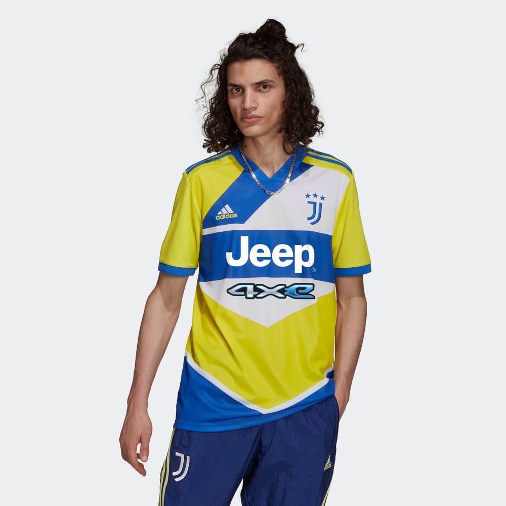 adidas Juventus 21-22 Third Jersey Shock Yellow GS1439