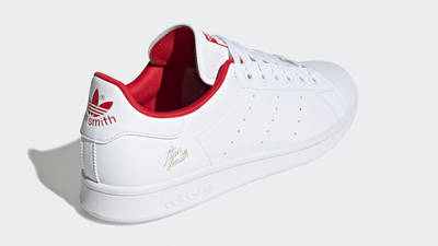 adidas Stan Smith Cloud White Scarlet Back