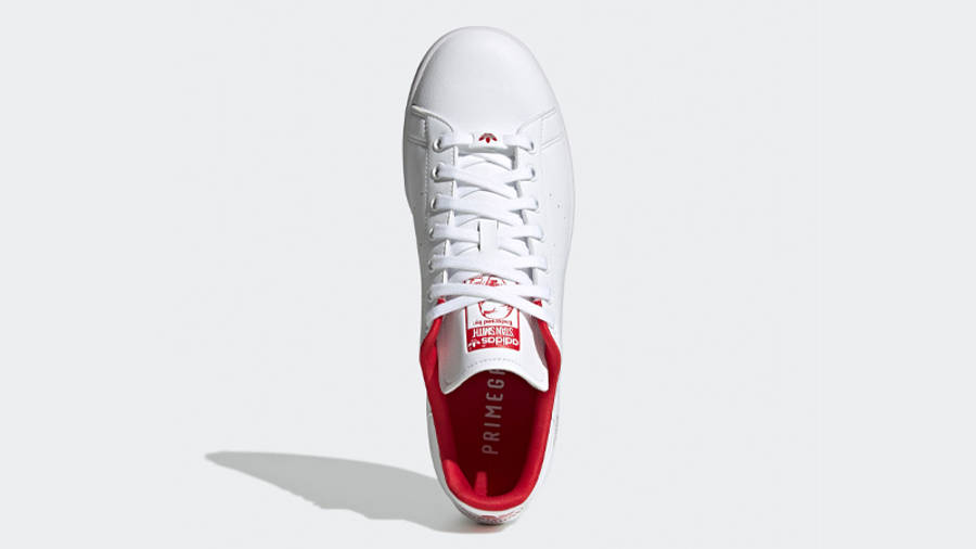 adidas Stan Smith Cloud White Scarlet Middle