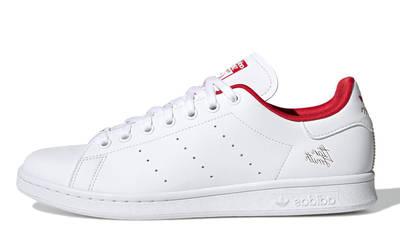adidas Stan Smith Cloud White Scarlet