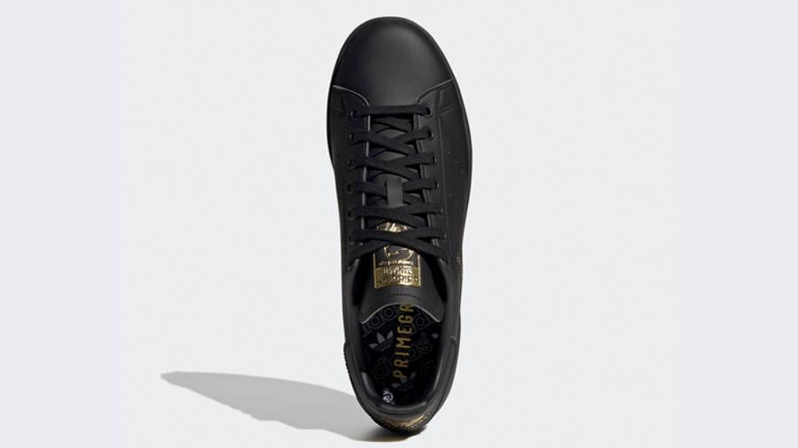 adidas Stan Smith Core Black Gold Metallic Middle