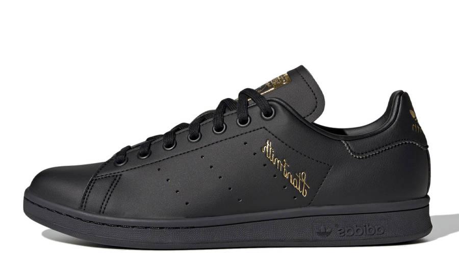 adidas Stan Smith Core Black Gold Metallic