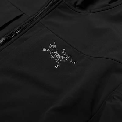 Arc'teryx Gamma MX Hooded Softshell Jacket Black Detail 2