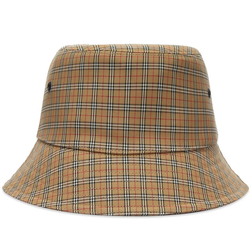 Burberry Micro Check Bucket Hat Archive Beige