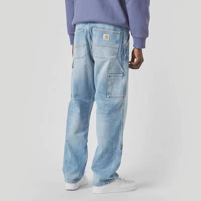 Carhartt WIP Double Knee Denim Light Wash Jeans Blue Back