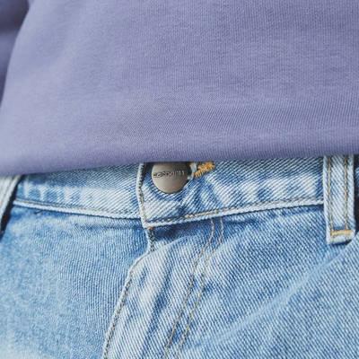 Carhartt WIP Double Knee Denim Light Wash Jeans Blue Detail 2