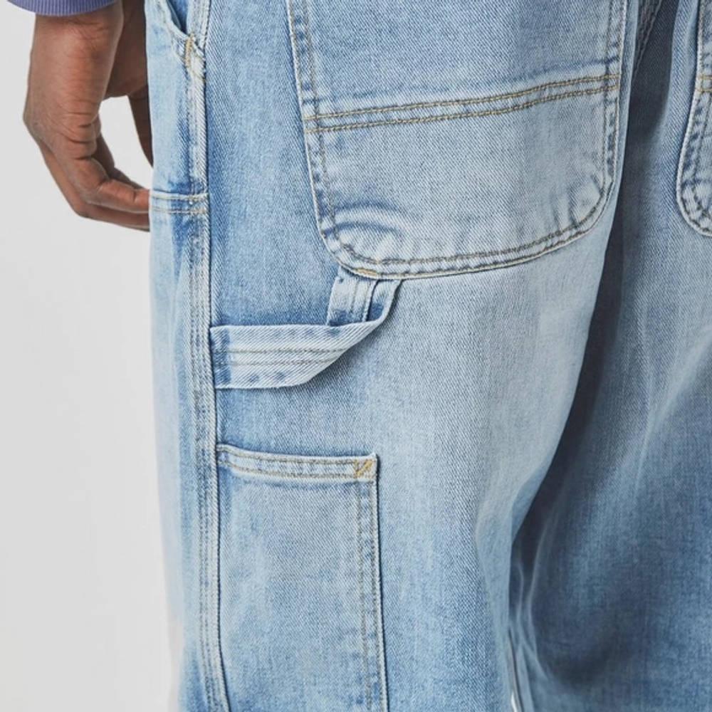 Carhartt WIP Double Knee Denim Light Wash Jeans Blue Detail 3
