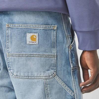 Carhartt WIP Double Knee Denim Light Wash Jeans Blue Detail