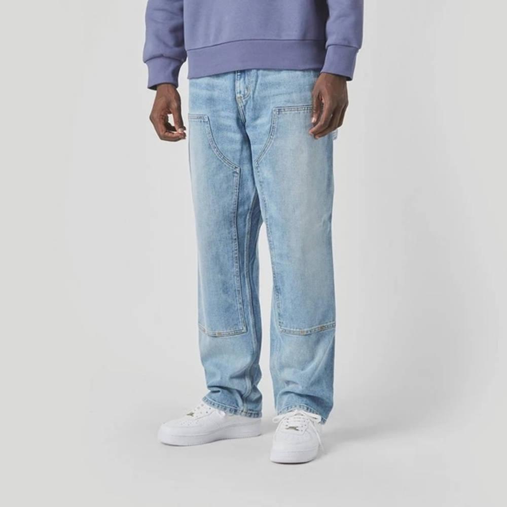 Carhartt WIP Double Knee Denim Light Wash Jeans Blue