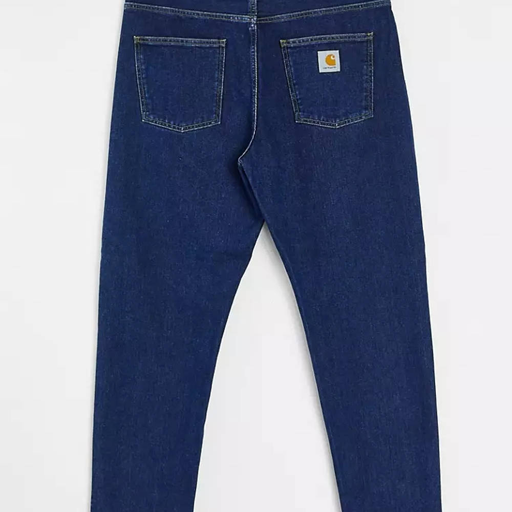 Carhartt WIP Newel Relaxed Taper Jeans Blue Stone Wash Back