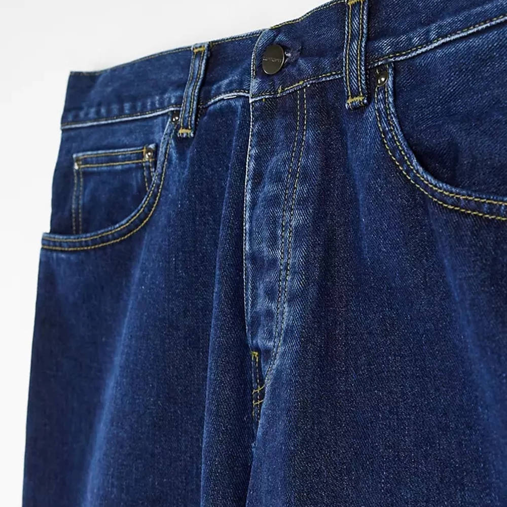 Carhartt WIP Newel Relaxed Taper Jeans Blue Stone Wash Detail 2