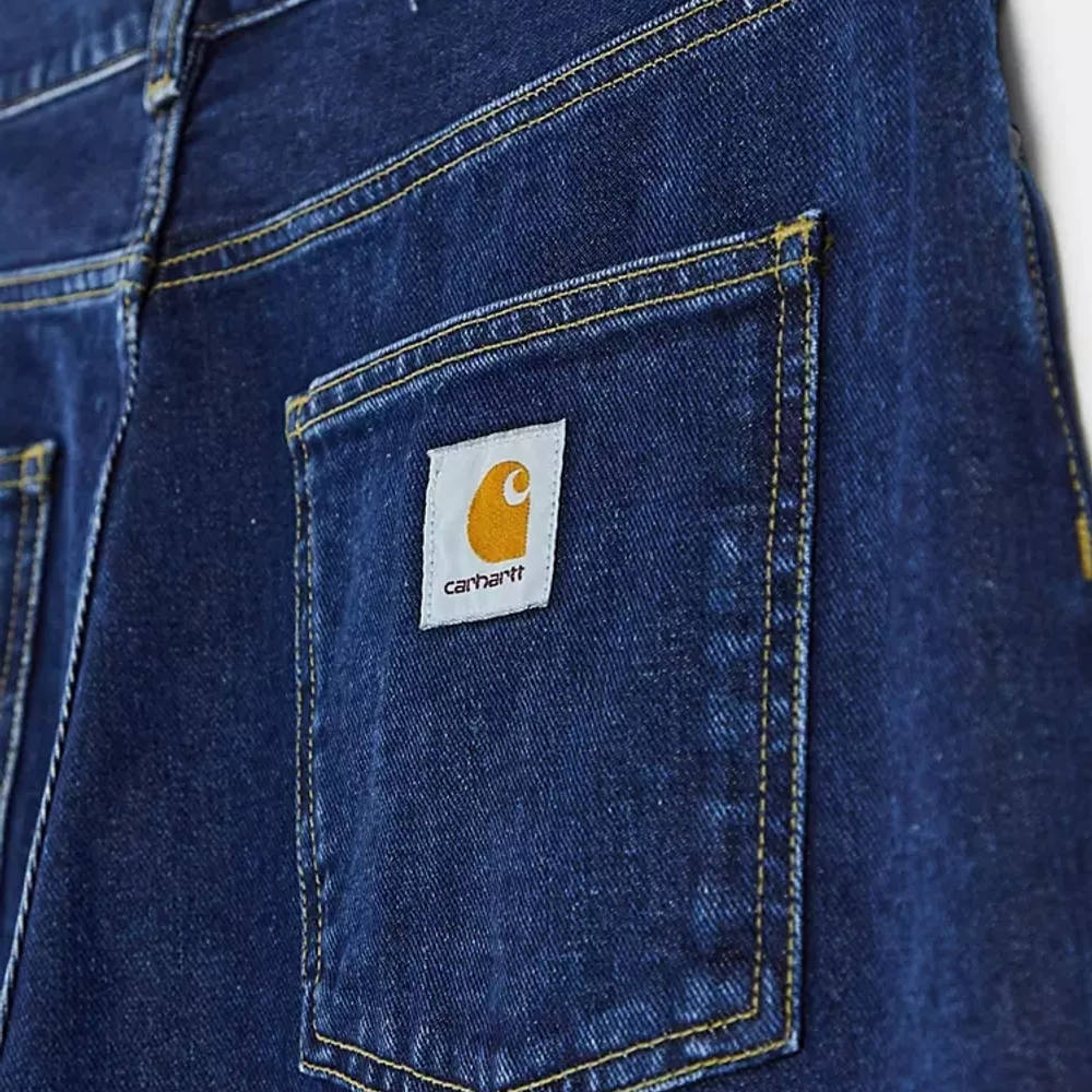 Carhartt WIP Newel Relaxed Taper Jeans Blue Stone Wash Detail