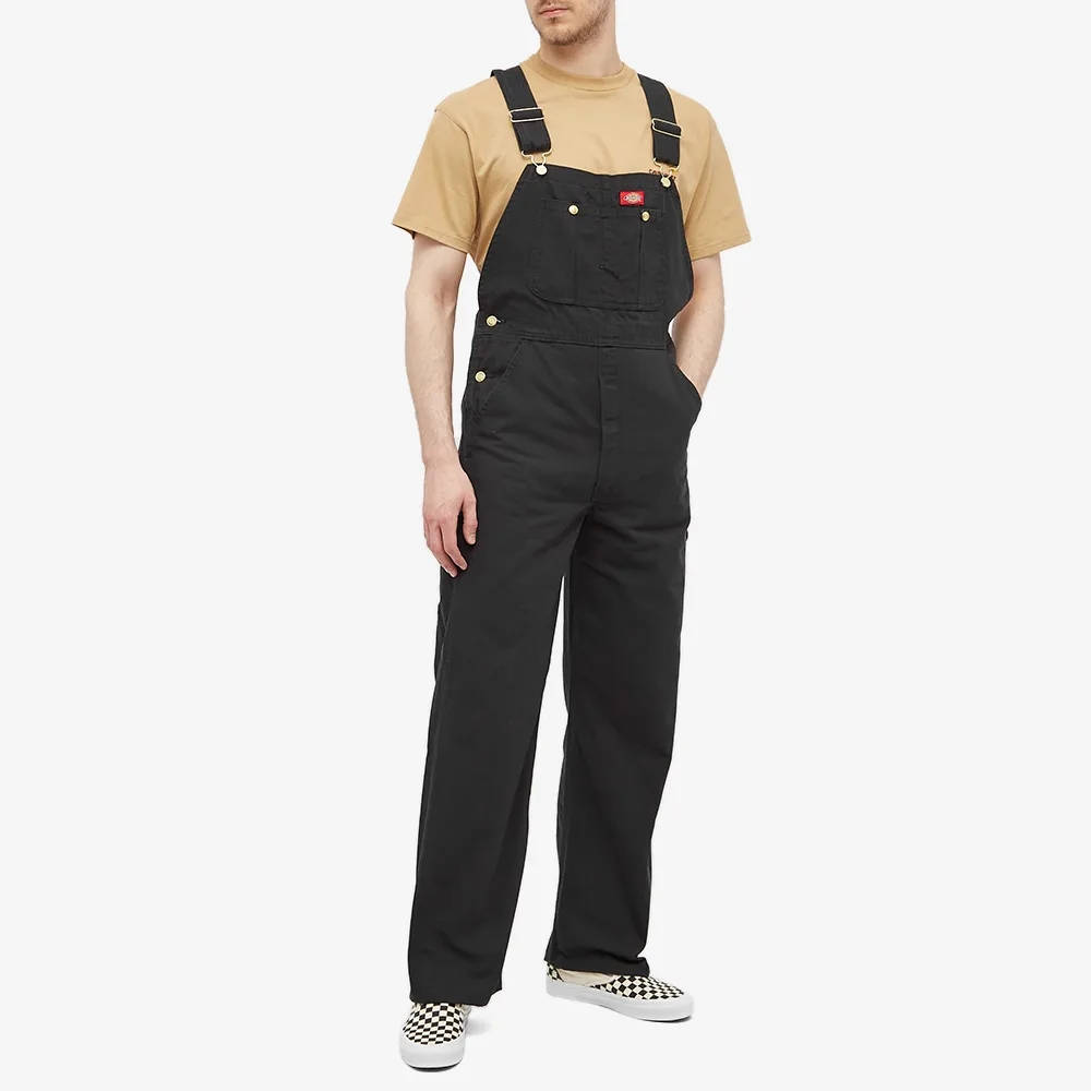 Dickies Bib Overall Black Front