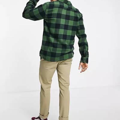 Dickies Sacramento Checked Shirt Green Back