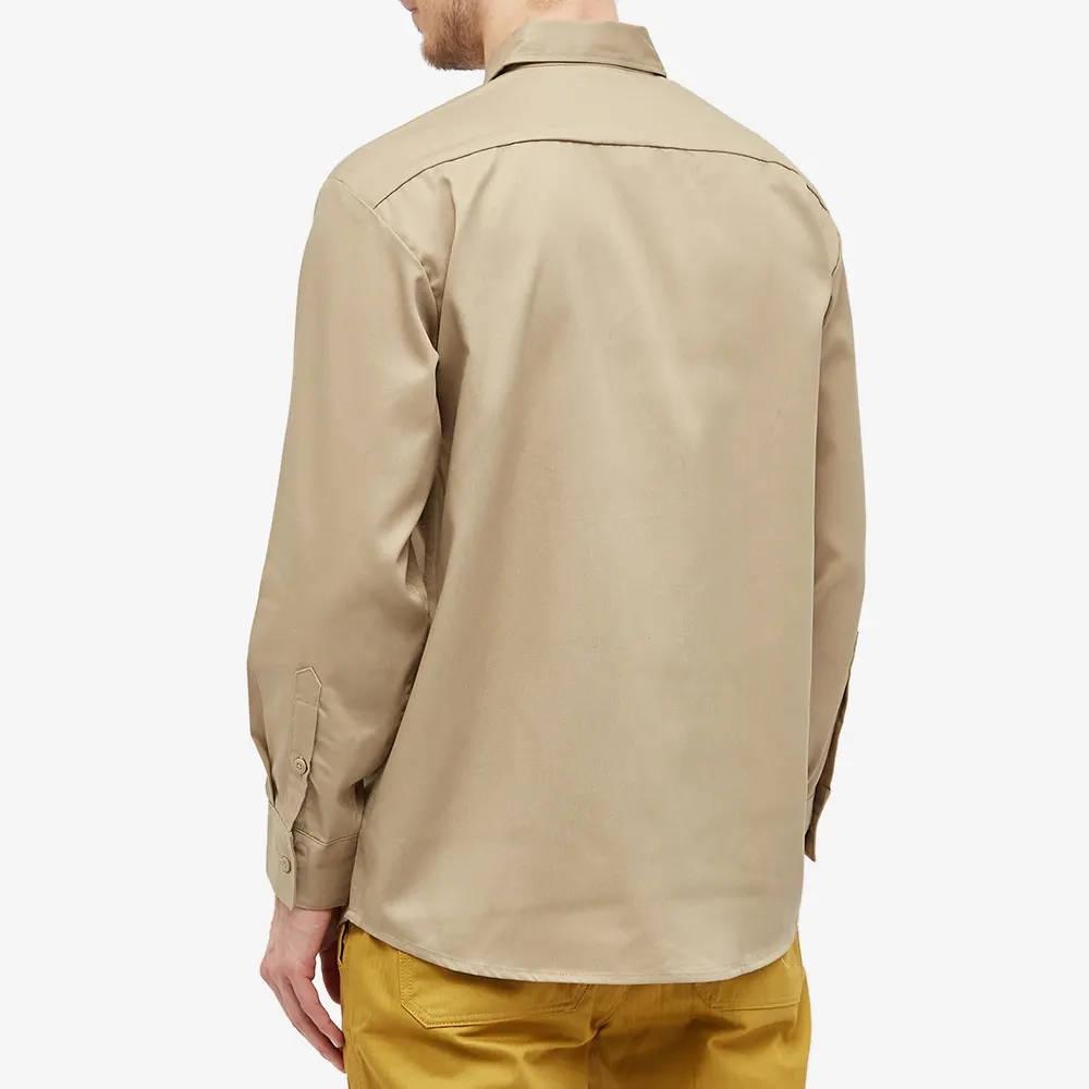 Dickies Work Shirt Khaki Back