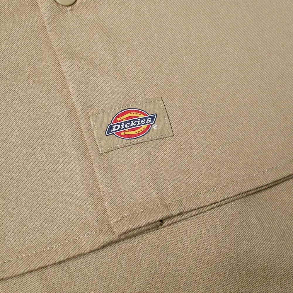 Dickies Work Shirt Khaki Detail 2