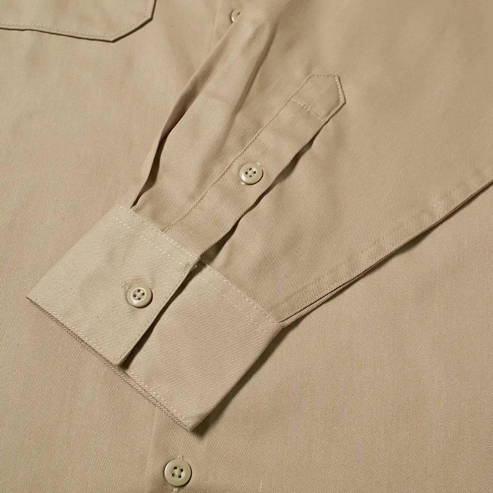 Dickies Work Shirt Khaki Detail 3