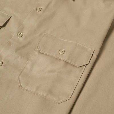 Dickies Work Shirt Khaki Detail