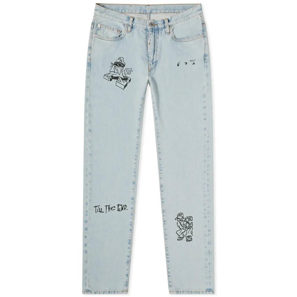 END. x Off-White Bandit Slim Jeans OMYA102T21DEN0034010