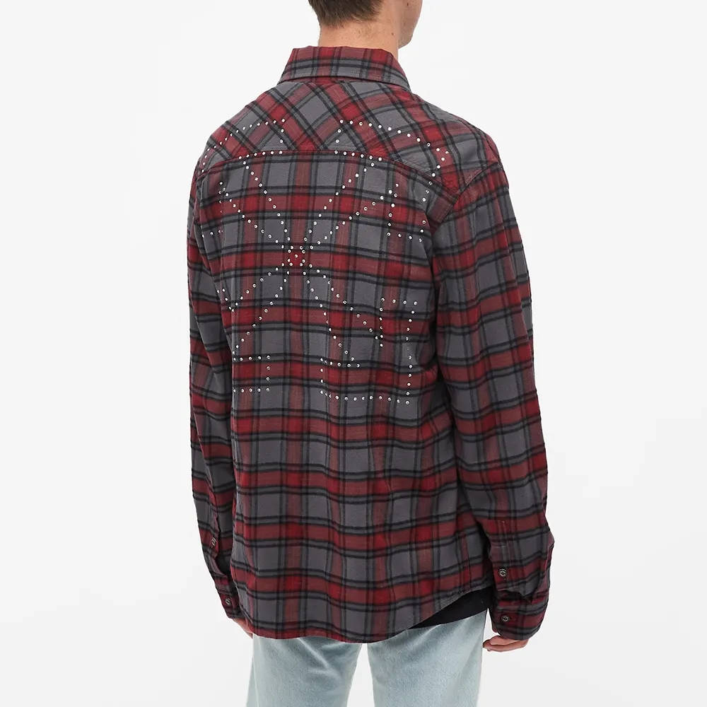 END x Off-White Till The End Flannel Shirt OMGA133T21FAB0034525 Back