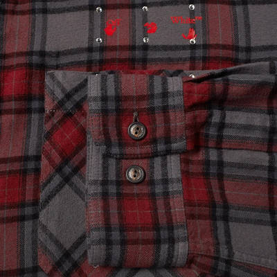 END x Off-White Till The End Flannel Shirt OMGA133T21FAB0034525 Detail