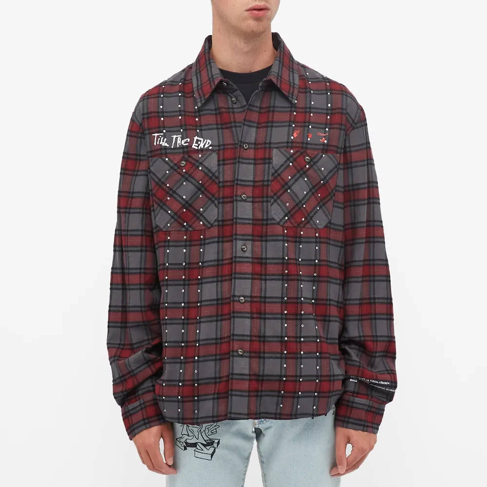 END x Off-White Till The End Flannel Shirt OMGA133T21FAB0034525 Front