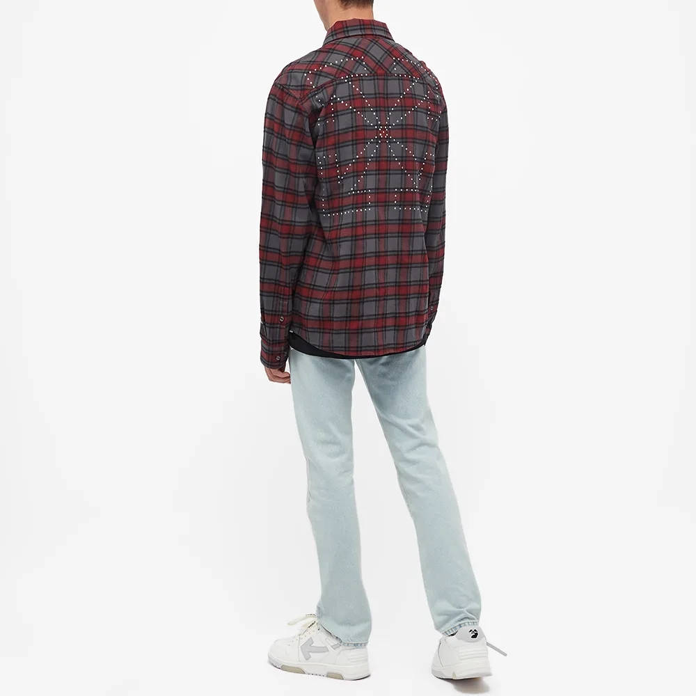 END x Off-White Till The End Flannel Shirt OMGA133T21FAB0034525 Full