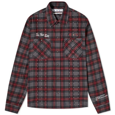 END x Off-White Till The End Flannel Shirt OMGA133T21FAB0034525