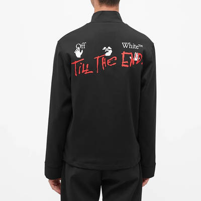 END x Off-White Till The End Track Jacket OMBD014T21FAB0021025 Back
