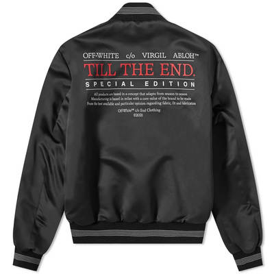 END x Off-White Till The End Varsity Jacket OMEA267T21FAB0031025 Back