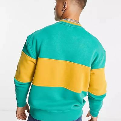 Levi's Logo Colour Block Stripe Sweatshirt Green Back