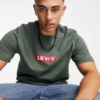 Levi's Relaxed Fit Boxtab Logo T-Shirt Dark Green