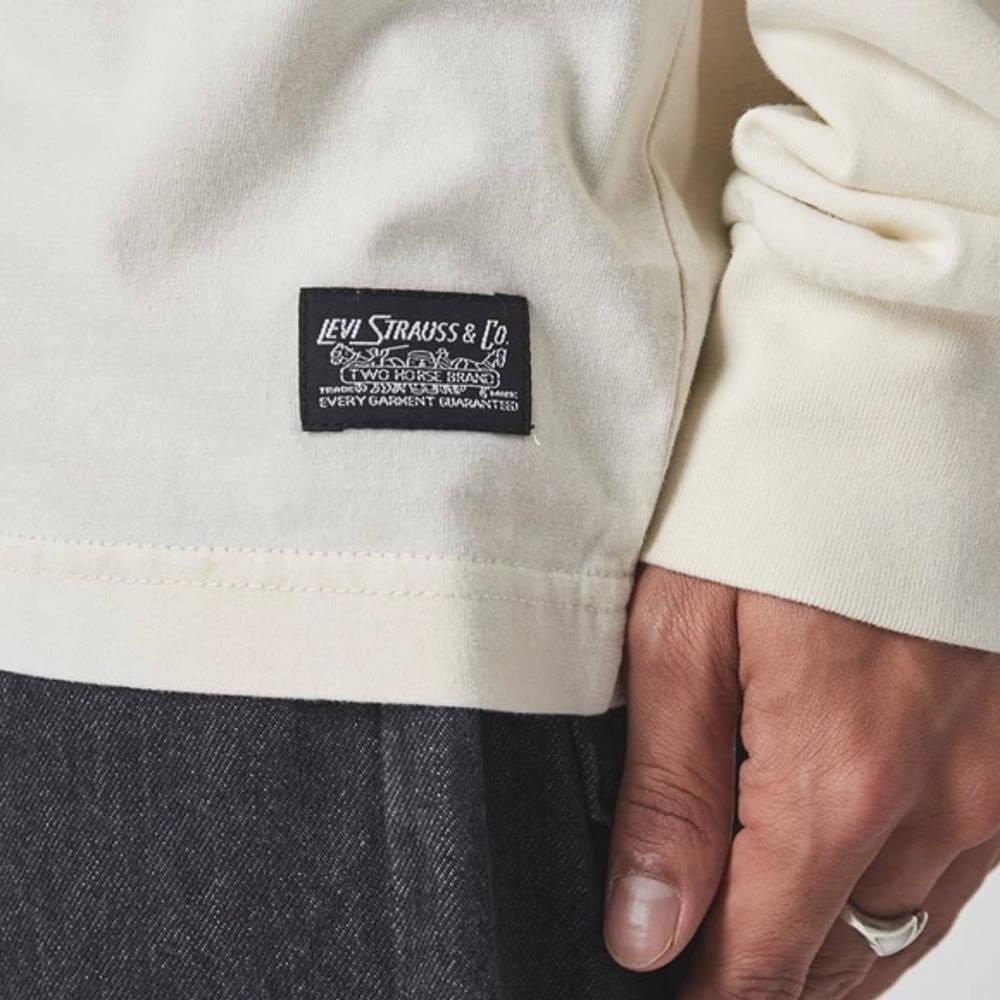 Levi's Skate Leopard Long Sleeve T-Shirt White Detail 2