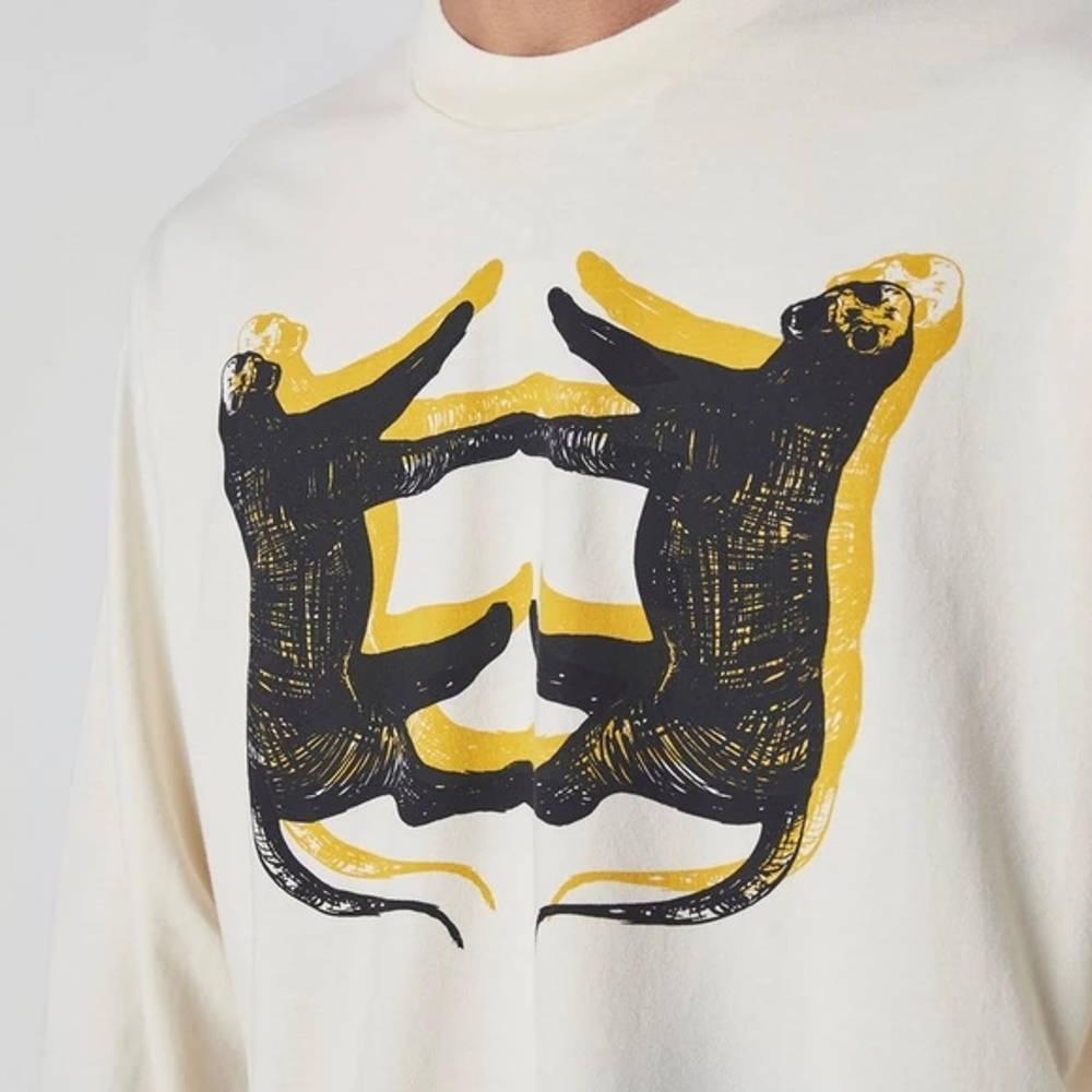 Levi's Skate Leopard Long Sleeve T-Shirt White Detail