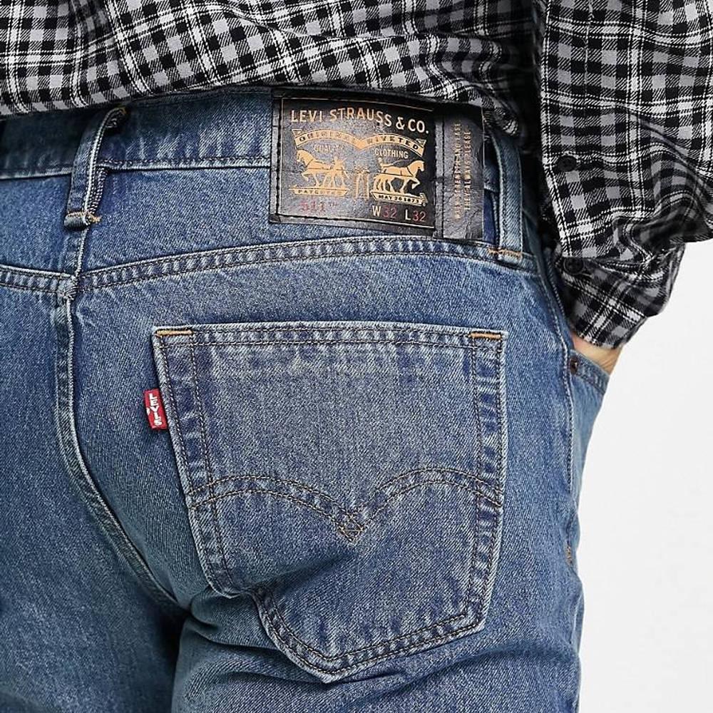 Levi's Skateboarding 511 Slim Fit Jeans Mid Blue Detail