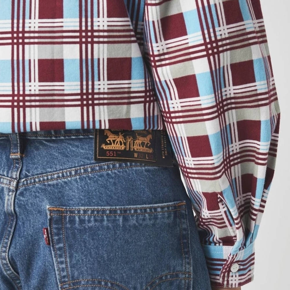 Levis Skateboarding 511 Straight Jeans Blue Detail