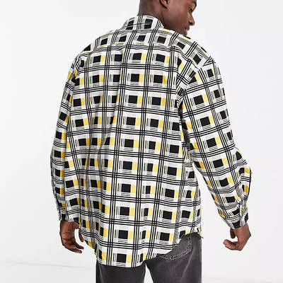 Levi's Skateboarding Square Check Relaxed Fit Overshirt Multi Back