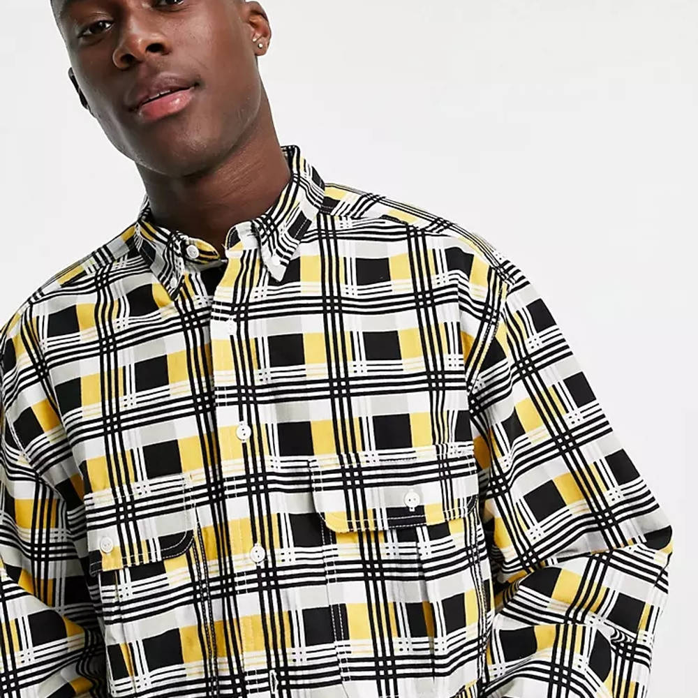 Levi's Skateboarding Square Check Relaxed Fit Overshirt Multi Detail