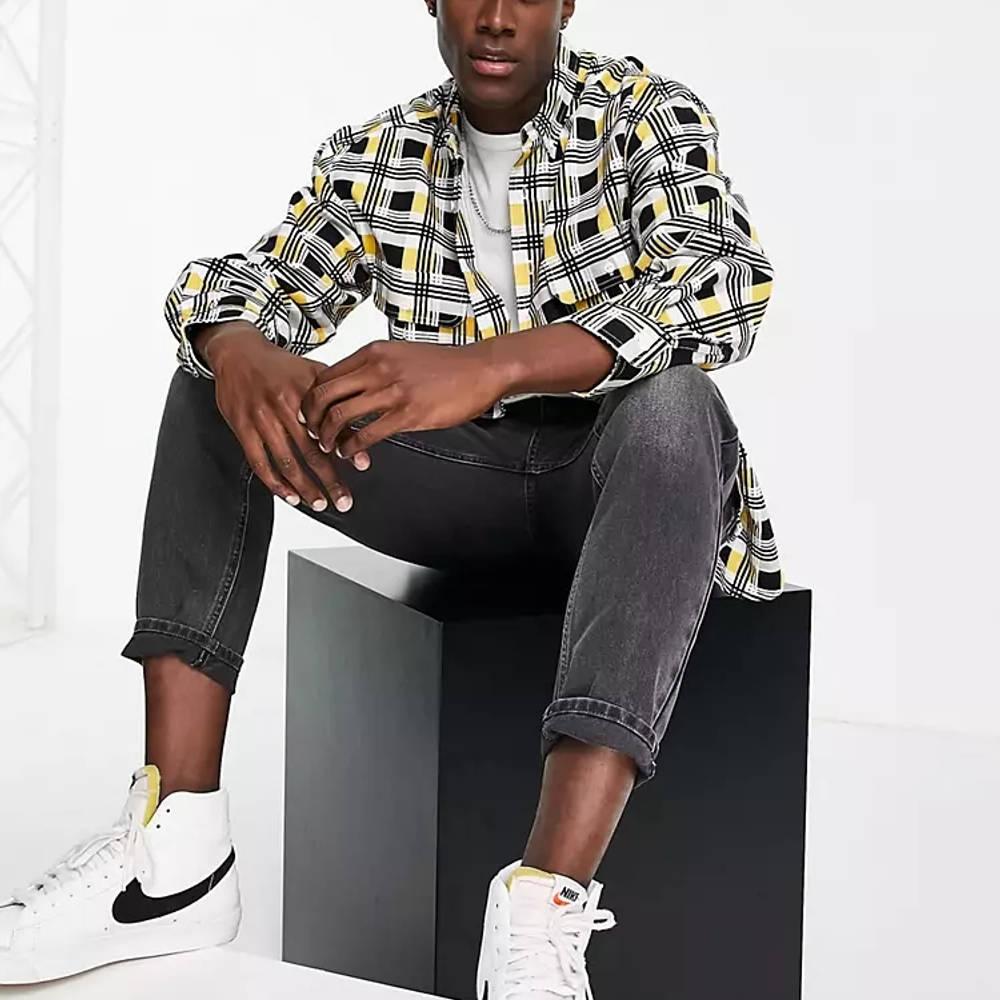 Levi's Skateboarding Square Check Relaxed Fit Overshirt Multi Full