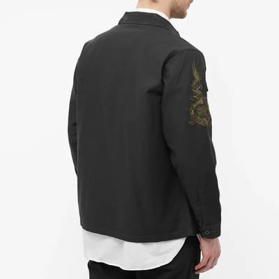 Maharishi Embroidered Dragon Shirt Black Back