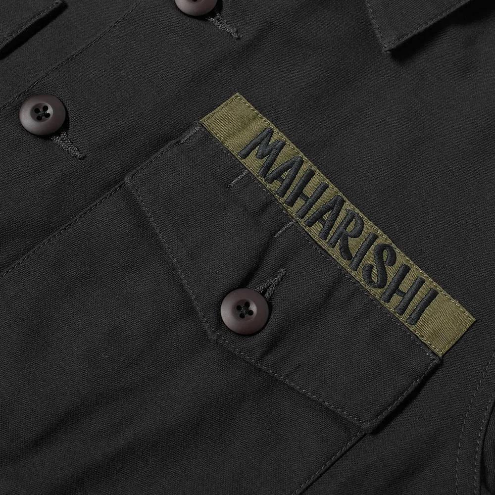 Maharishi Embroidered Dragon Shirt Black Detail 2