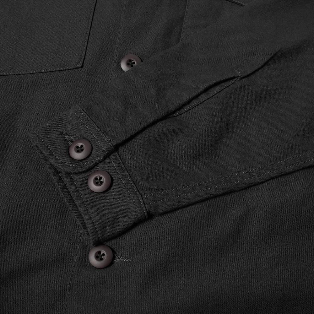 Maharishi Embroidered Dragon Shirt Black Detail 3