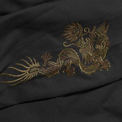 Maharishi Embroidered Dragon Shirt Black Detail 4