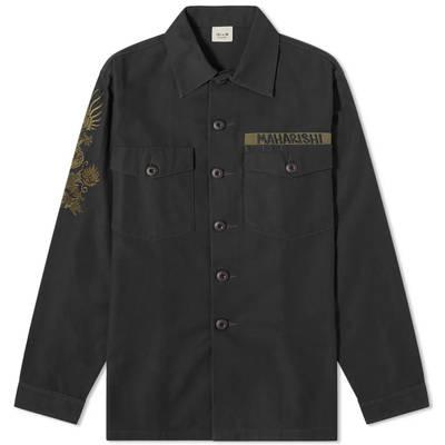 Maharishi Embroidered Dragon Shirt Black